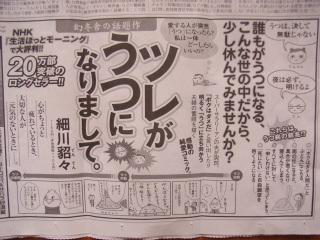 ツレうつ9/2毎日新聞