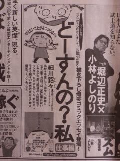 どーすんの?新聞広告