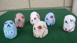 ウサギの張り子人形