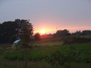 つくばの夕陽