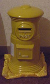 黄色ポスト貯金箱